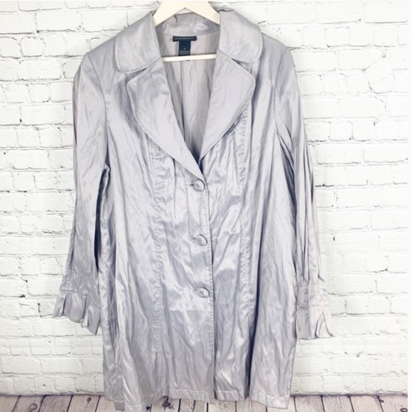 Lane Bryant Jackets & Blazers - Lane Bryant Metallic Trench Jacket